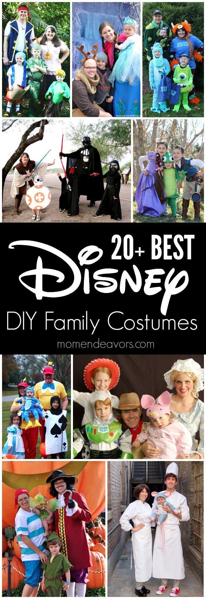 20+ BEST DIY Disney Family Themed Halloween Costumes
