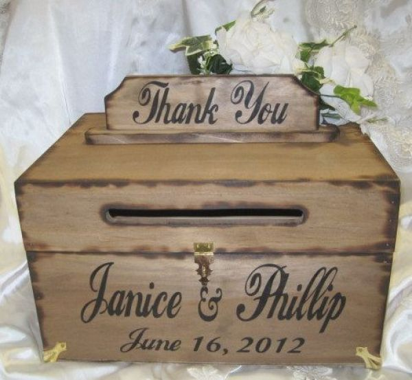 DIY rustic card box, add some fall flowers or a ribbon around it for some colour: