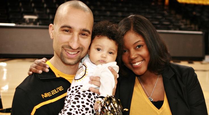 VCU Coach Shaka Smart with his wife Maya and daughter Zora