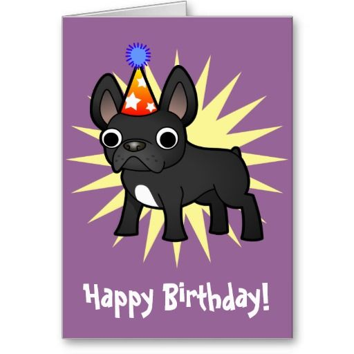 23 Best Images About French Bulldog Birthday Card On