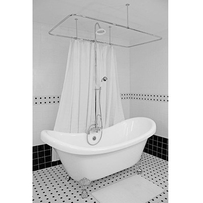 17 Best Images About Clawfoot Tub Shower On Pinterest