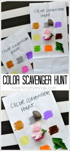This simple color scavenger hunt for kids is unbelievably easy to throw together last minute and the kids have fun with it every