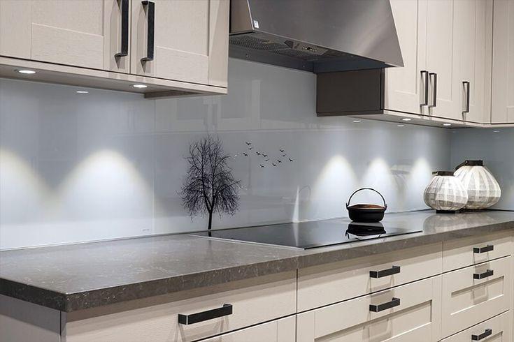 Digital Print On Glass Kitchen Backsplash Backsplash