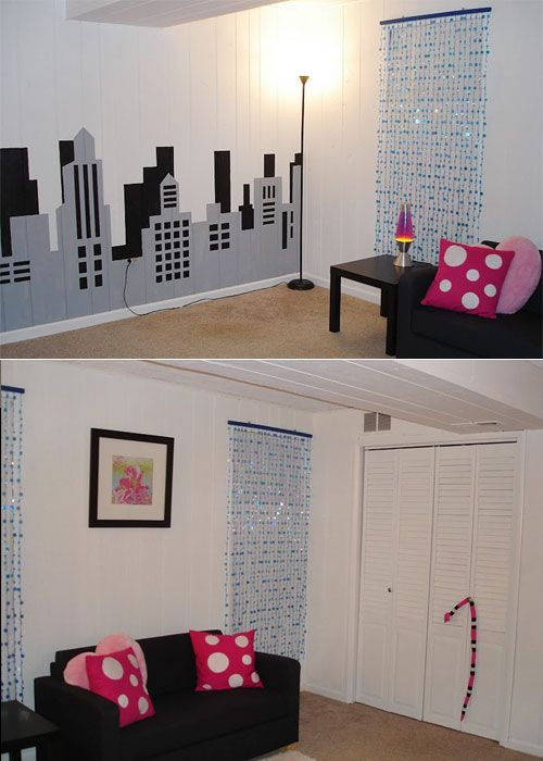 Painting A City Skyline Mural Power Of Paint Pinterest