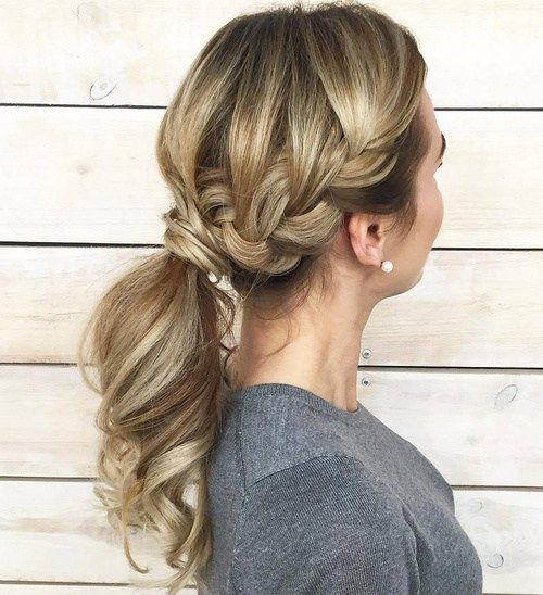 1000 Ideas About French Braided Ponytail On Pinterest