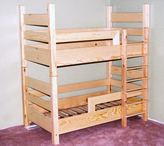 A Toddler Bunk Bed Uses Crib Mattresses Love This Idea For