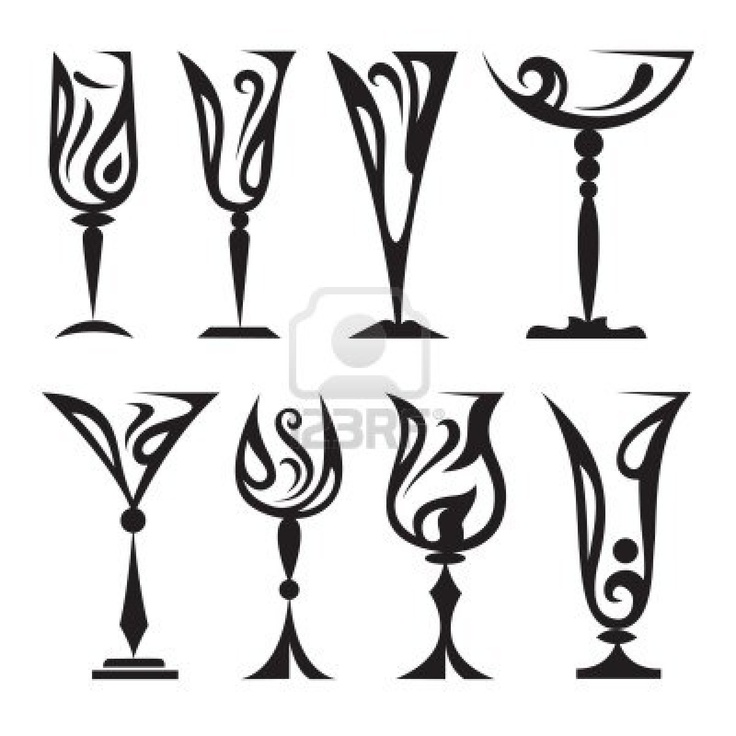 stylized glass collection clip art food 2 Pinterest