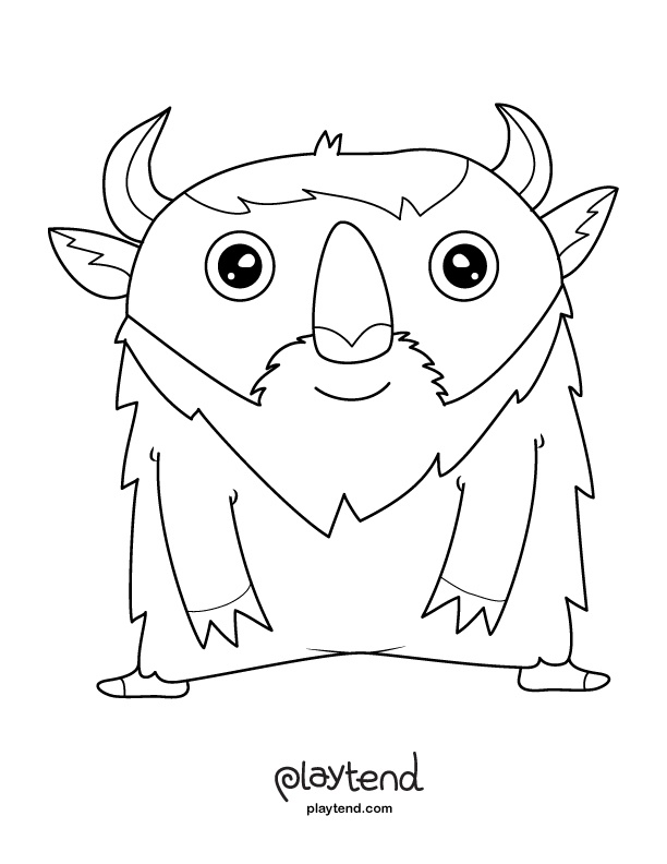 cute monster coloring page print it out and color away more