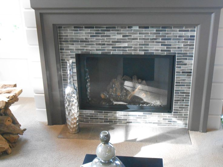Glass Mosaic Fireplace Accent