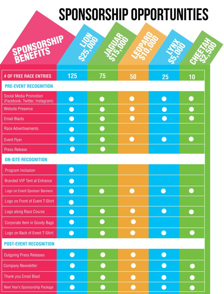sponsorship levels and benefits Google Search cheer