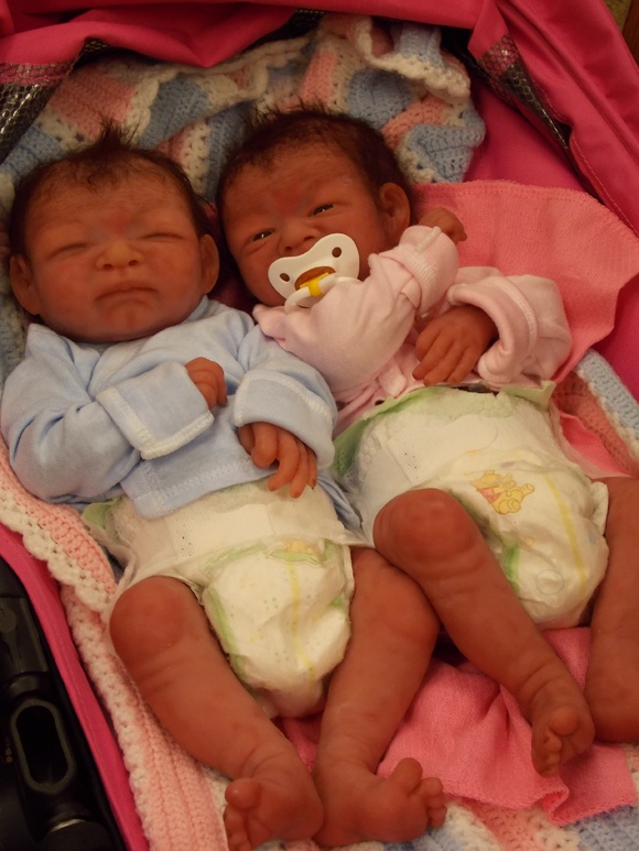 Julie Molloy Silicone baby twins Silicone Babies