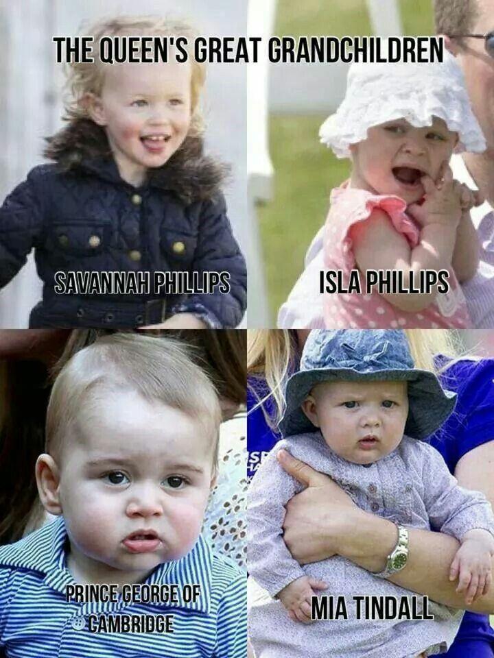Great grandchildren of Queen Elizabeth II and Prince