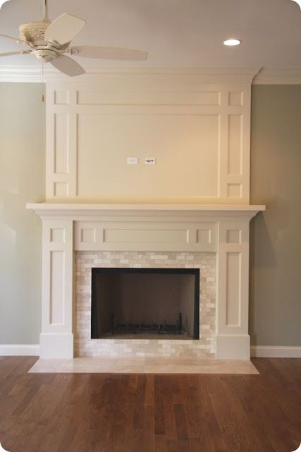 15bd9e99e777 Great idea to expand above existing mantel. All we need to add is the  interior trim.