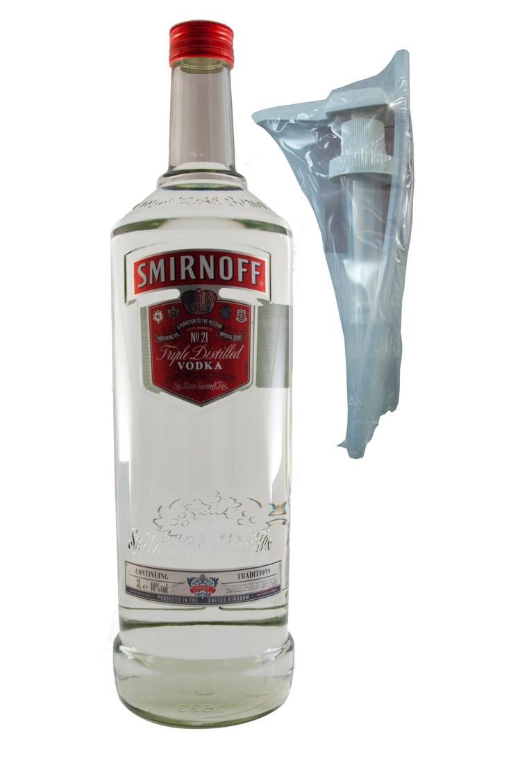 Smirnoff 3 Liter Flasche mit Pumpe / 40 vol (3L