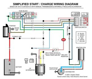 Automotive Alternator Wiring Diagram | Boat electronics