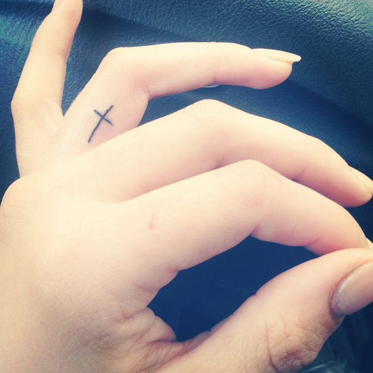 I want 3 tattoos; this cross on my left hand ring finger