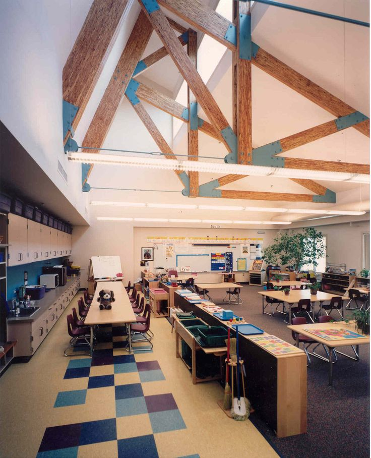 Love the light and open space of this design. STEM lab