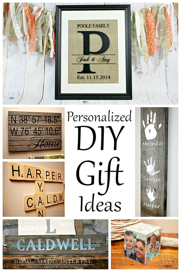 These personalized DIY gift ideas are easy crafts you can