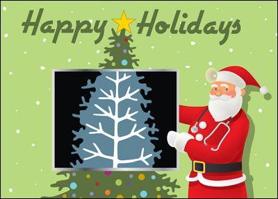 Physician Christmas Card Glossy White 01803 Christmas