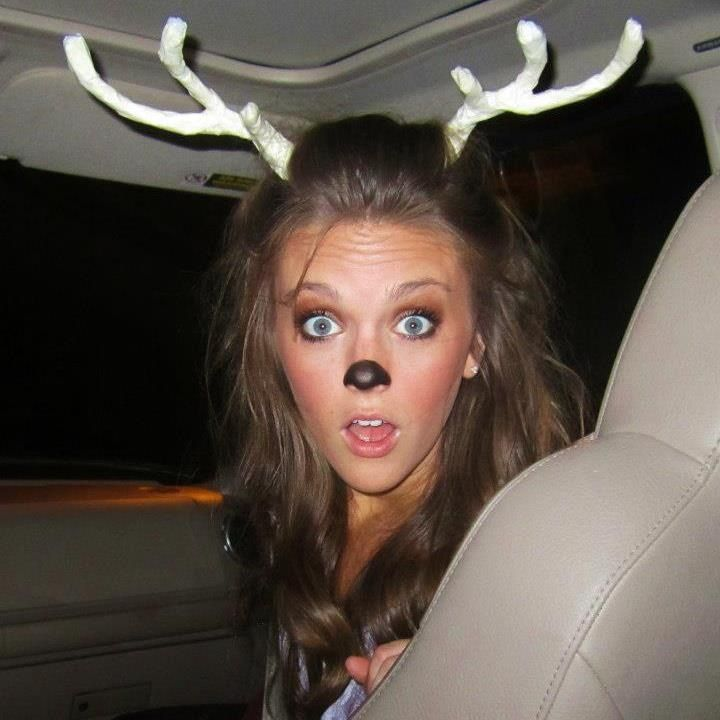 Dress as a deer for halloween and have your date be a hunter. Cute couples costu