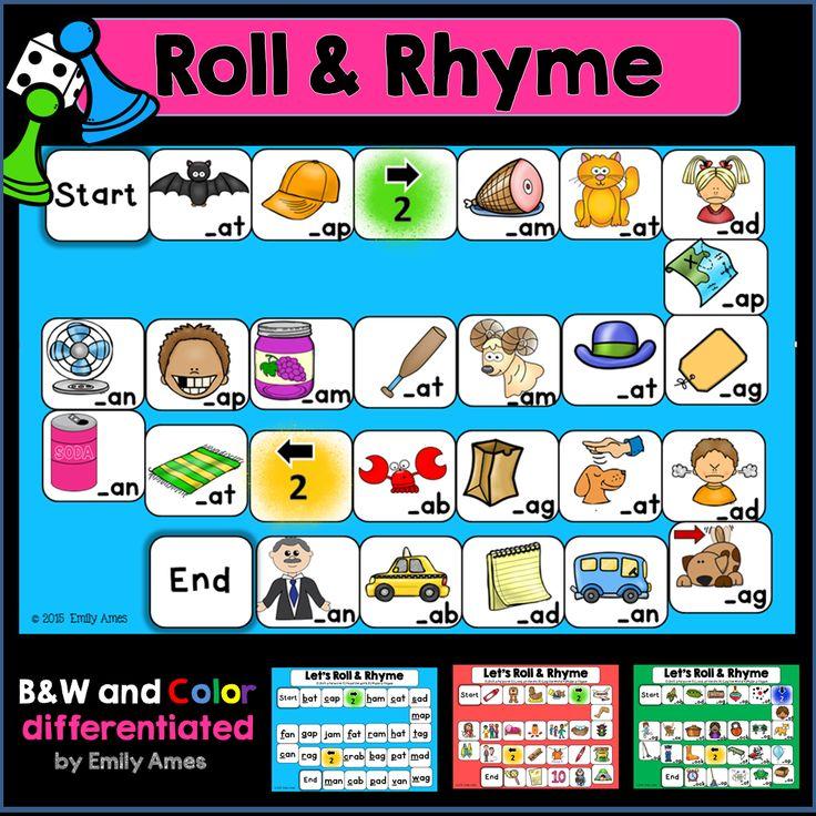 RhymingRoll and Rhyme Board Games Shorts, Kindergarten