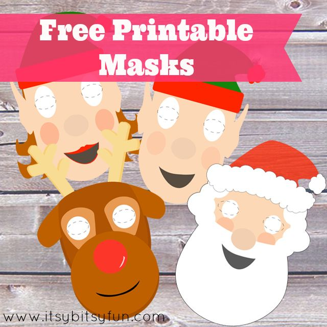 Free Printable Christmas Masks Xmas Pictures And