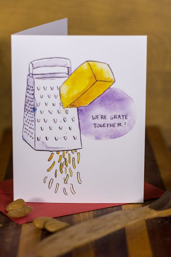 Were Grate Together Cheese Grater Card By