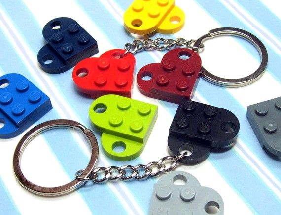 LEGO heart Key Chain    Find more cool teen program ideas at www.the4yablog.com: