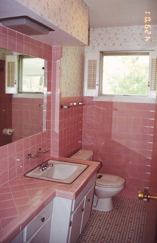 Pink Tile Painted Bathroom Tile Dream Home Pinterest