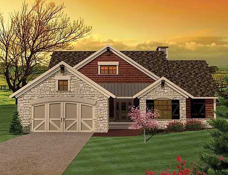 Plan 89815AH 3 Bedroom Hill Country Rambler Home Design