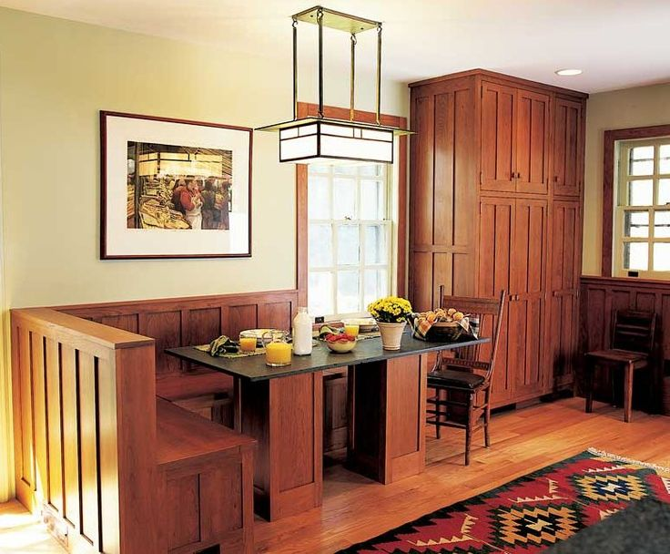 Mission Style Kitchen Built In Dining Area Home Up