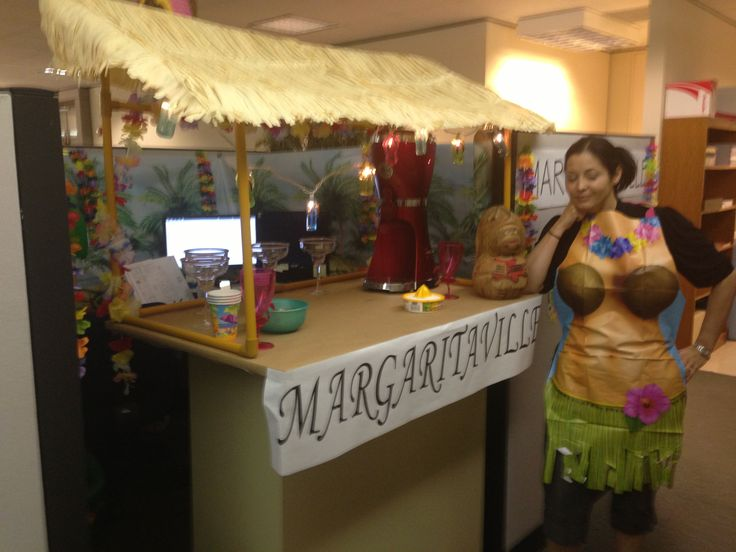 MargaritaVille Themed Cubicle Decoration