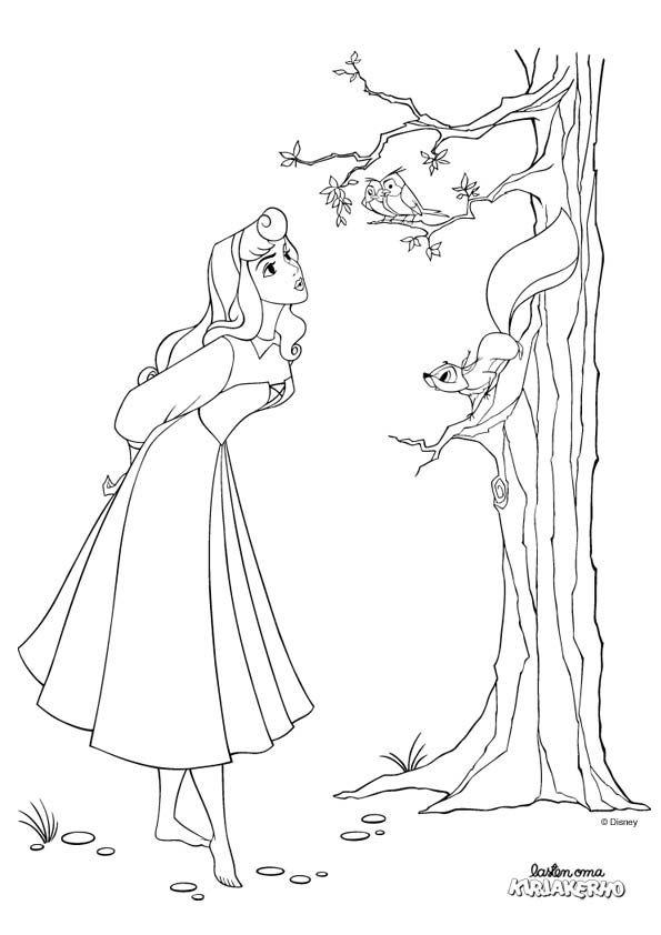 Prinsessa Ruusunen Vrityskuva Sleeping Beauty Colouring