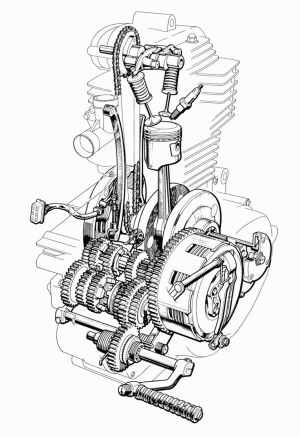 1000 images about Motorcycle engines and blueprints on