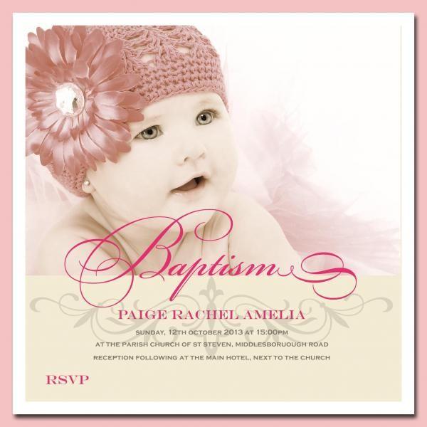 Baby Girl Christening Invitations Christening