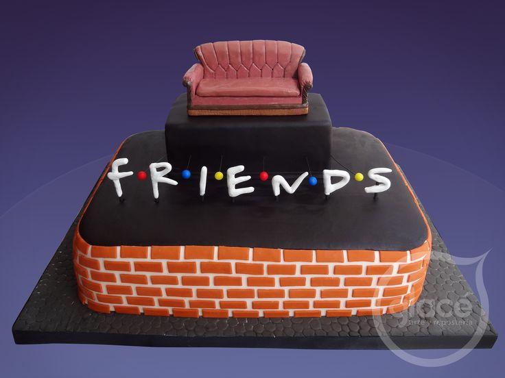 Torta De Cumpleaos Inspirado En La Serie Friends Creativas Pinterest Friends