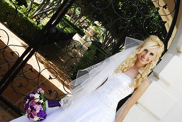 san go airbrush wedding makeup artist and hairstylist blonde bride half up hairstyle hair