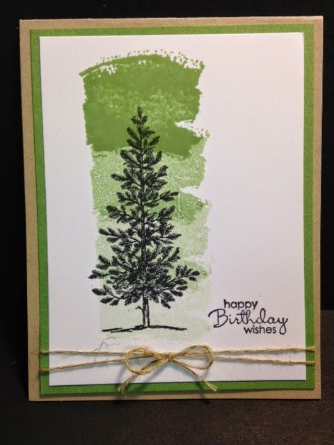 Lovely as a Tree, Work of Art, Masculine Card, Birthday Card, Stampin Up!, Rubber Stamping, Handmade Cards