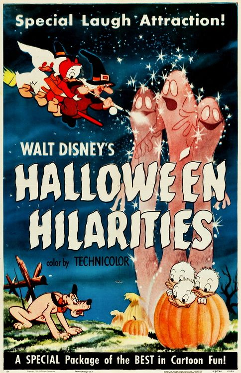 "Vintage poster for ""Walt Disney's Halloween Hilarities,"" a"
