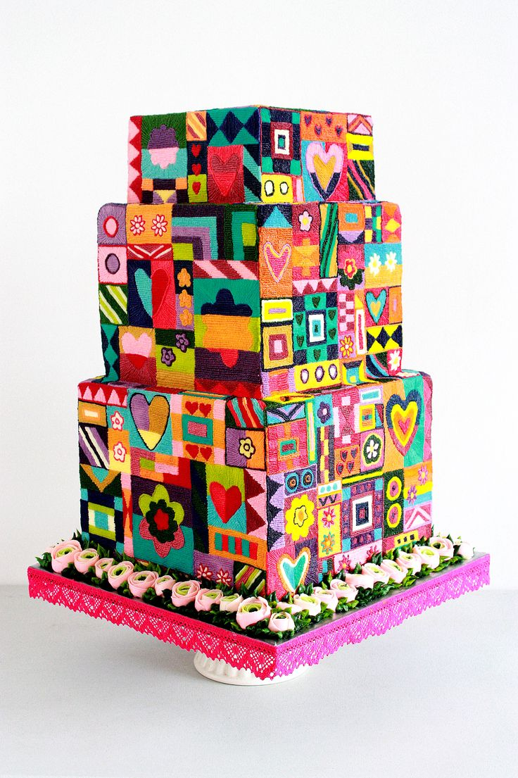 1000 Images About Cake Design Square Cakes On Pinterest