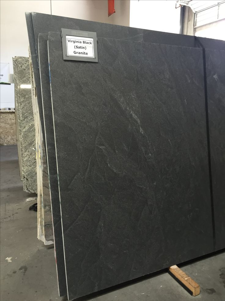 Virginia Black Granite In Satin Or Honed Finish Looks Similar To Soapstone Counter Tops