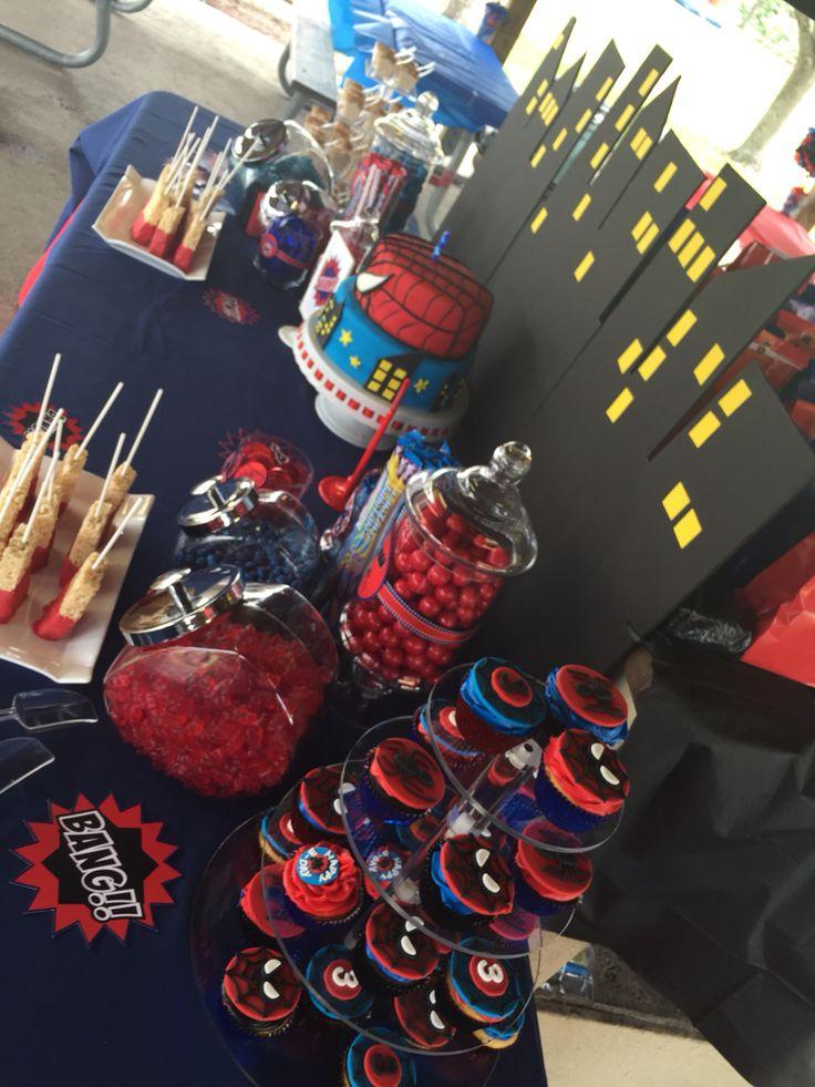 Spiderman Candy Buffet Inspiration Pinterest Candy