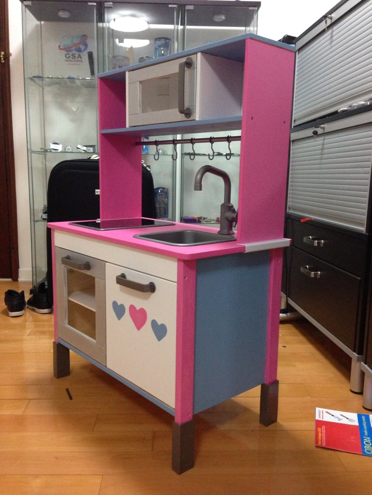 Ikea play kitchen customised by me! ) Crafty ideas