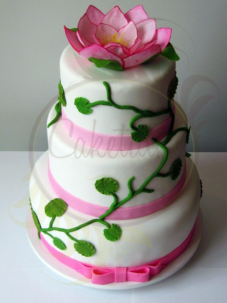Lotus Flower Cake Caketutes Cake Designer Bolo Flor De