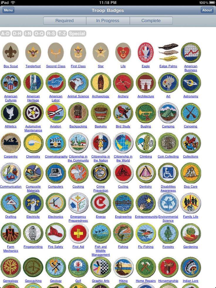 boyscout badge chart Google Search garden Pinterest