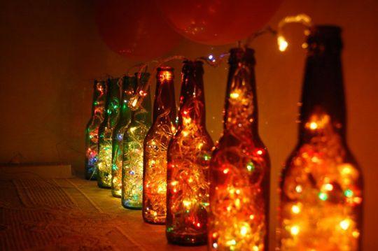 Reciclar botellas de vidrio 10 ideas para reciclar - Botellas con luces ...