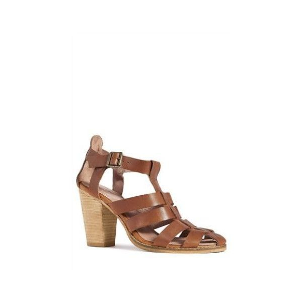 Gladiator Block Sandal (€73) found on Polyvore