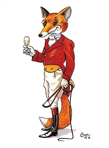 21st Century Fox Funny Greeting Card Of Fox Dressed In
