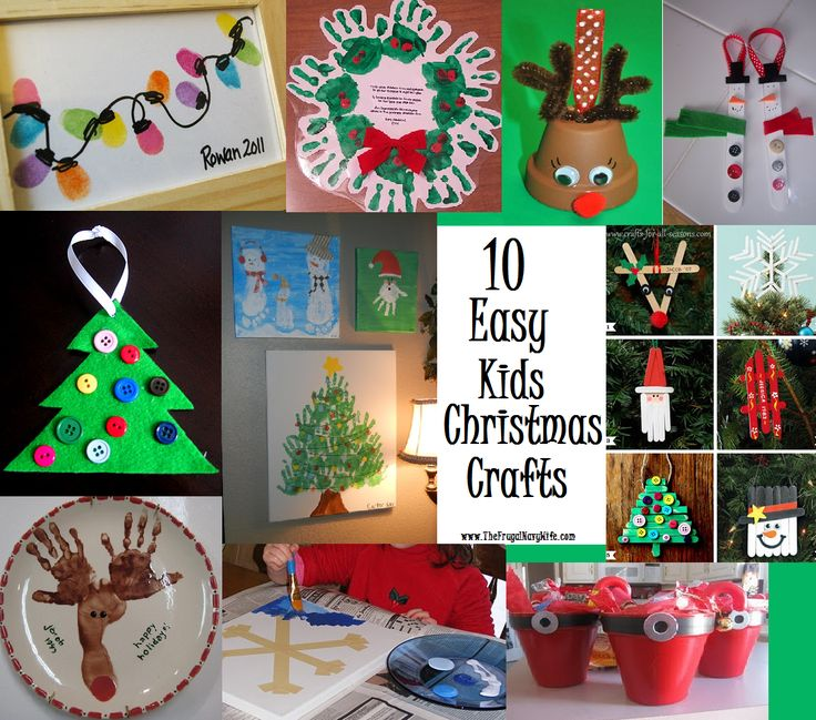 10 Easy Kids Christmas Crafts by The Frugal Navy Wife.