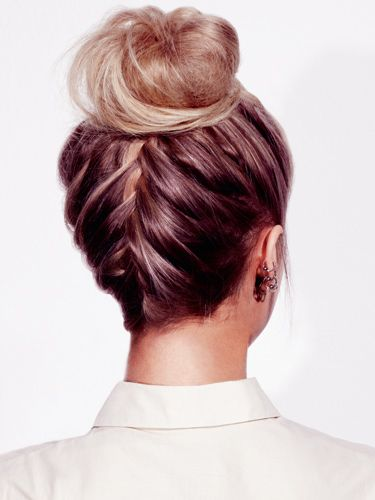 saw one of the other teachers with shortish hair do hers like this. i need to fi